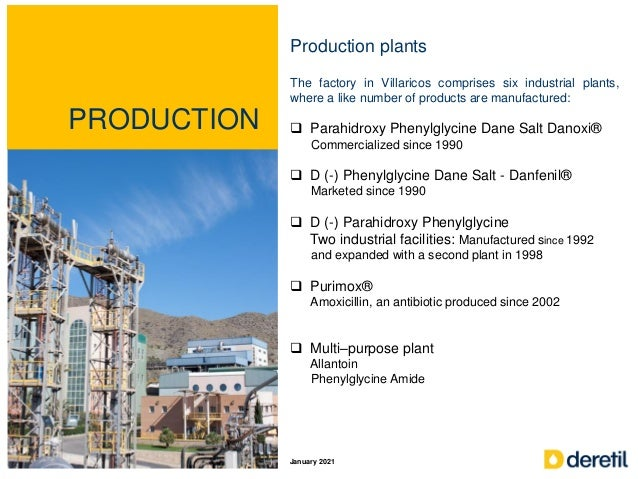 PRODUCTION Production plants The factory in Villaricos comprises six industrial plants, where a like number of products ar...