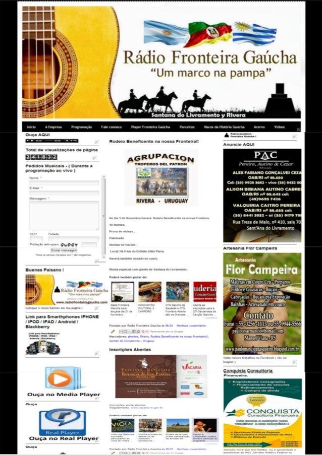 Site rádio fronteira gaúcha