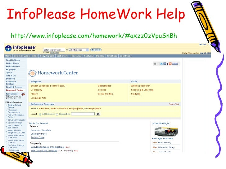 some good homework help sites