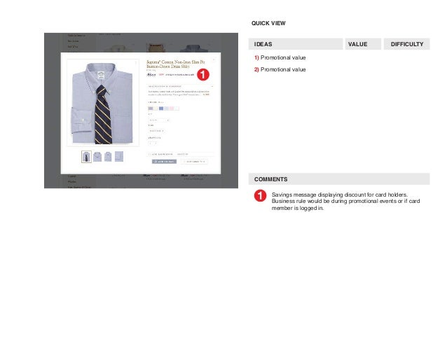 Brooks brothers site user flow mapping 7 colourmoves