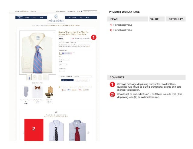 Brooks brothers site user flow mapping promotional value 8 reheart Images