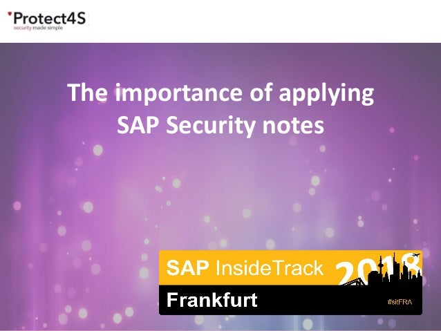The importance of applying SAP Security notes