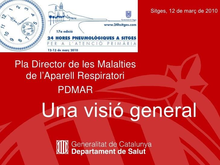 Pla Director de les Malalties de l'Aparell Respiratori PDMAR Una visió general Sitges, 12 de març de 2010