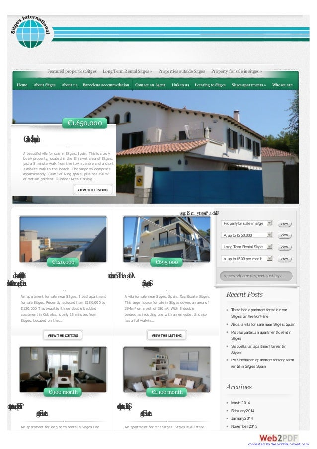 Threebedapartmentforsale nearSitges,onthefront-line An apartment for sale near Sitges. 3 bed apartment for sale Sitges. Re...