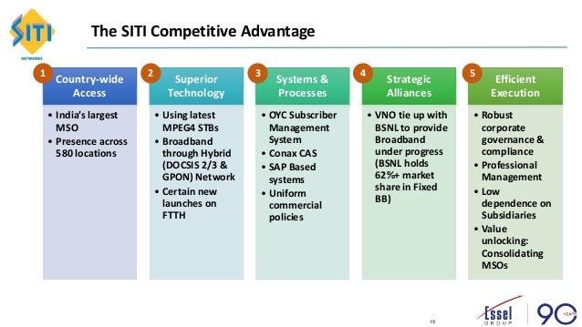 SITI Networks Investor Relation Deck Q1 FY18