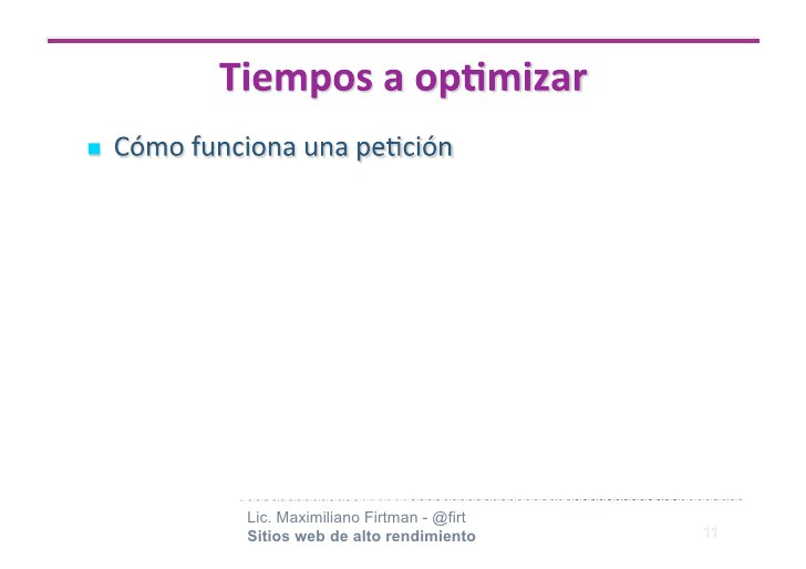 Lic. Maximiliano Firtman - @firt Sitios web de alto rendimiento