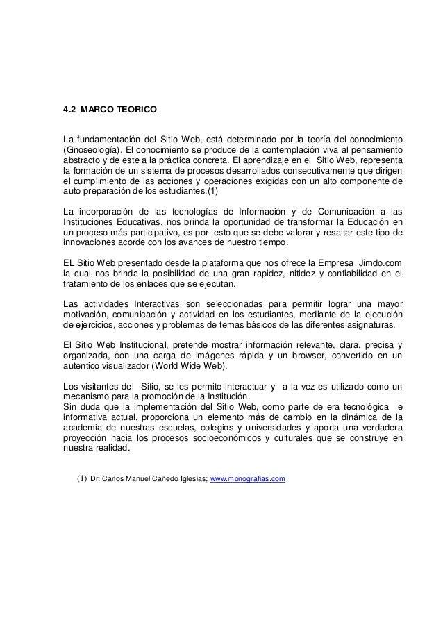 SITIO WEB PARA EL CONOCIMIENTO DE LOS PROCESOS EDUCATIVOS Y SERVICIOS…