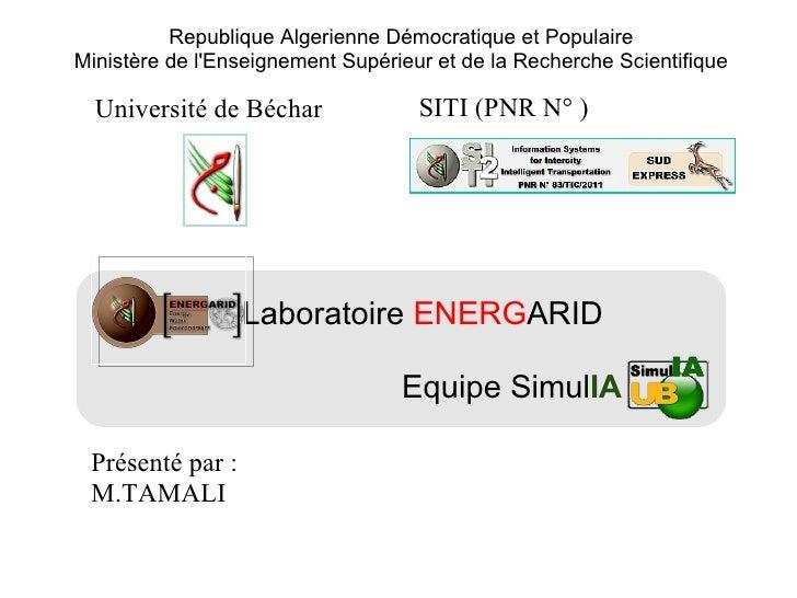 Republique Algerienne Démocratique et PopulaireMinistère de lEnseignement Supérieur et de la Recherche Scientifique  Unive...