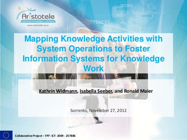 Collaborative Project – FP7- ICT- 2009 - 257886Mapping Knowledge Activities withSystem Operations to FosterInformation Sys...