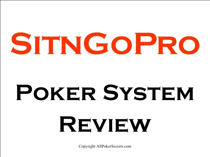 SitnGoPro Poker System Review