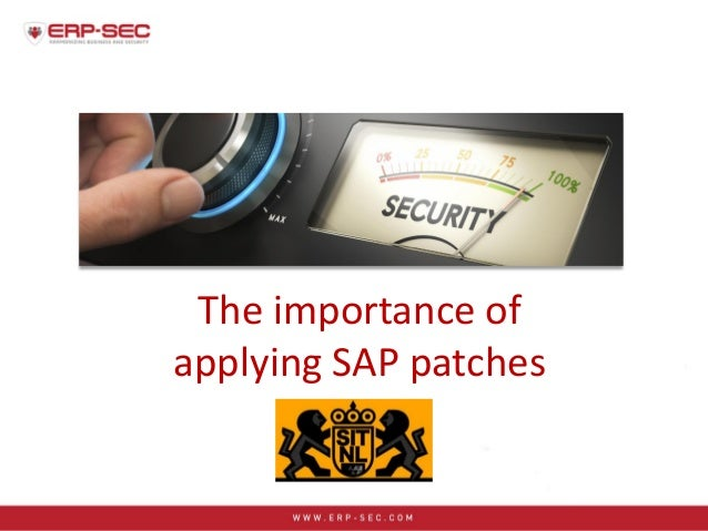 The importance of applying SAP patches