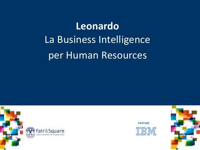 Leonardo La Business Intelligence per Human Resources PARTNER