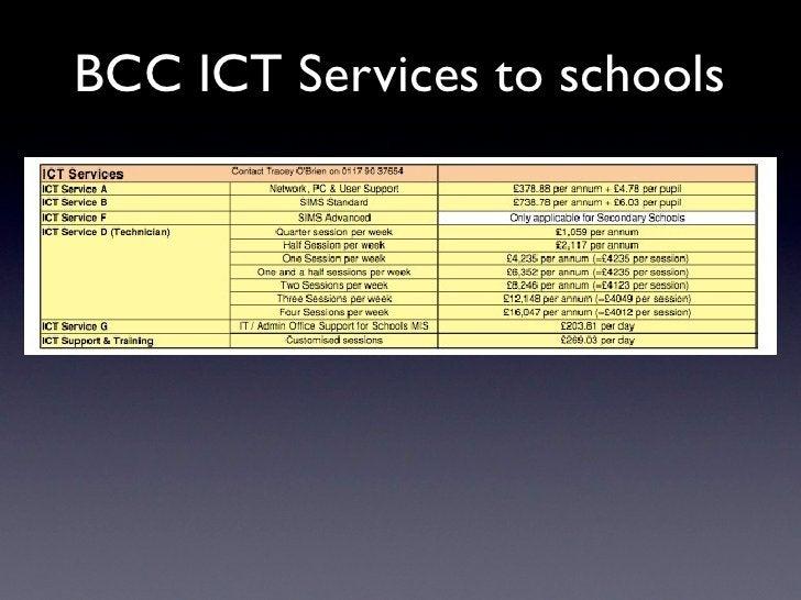 BCC ICT Services to schools