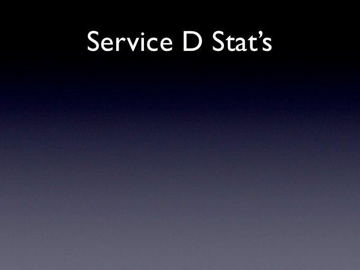 Service D Stat's