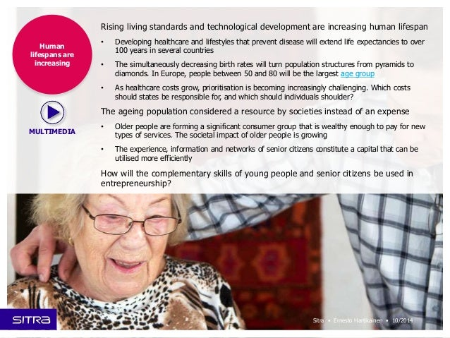 Rising living standards and technological development are increasing human lifespan  • Developing healthcare and lifestyle...