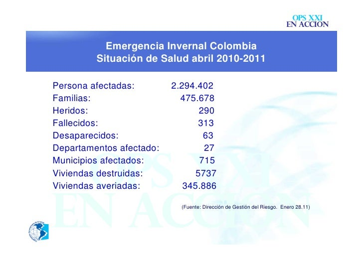 OPS XXI                                                                       EN ACCION           Emergencia Invernal Colo...