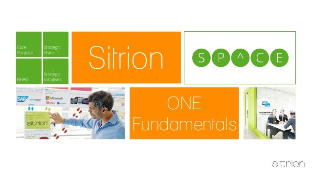 ONE  Fundamentals  Sitrion  succeed
