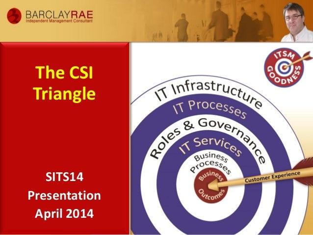 The CSI Triangle SITS14 Presentation April 2014