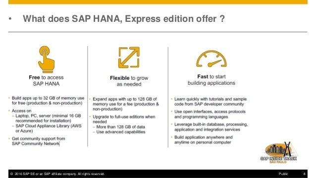 SAP HANA Express Edition