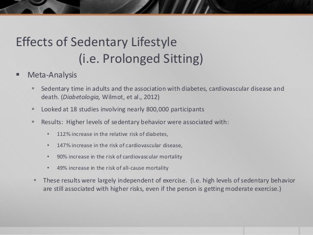 The Effects of Living a Sedentary Lifestyle Essay