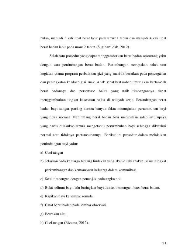 MAKALAH TENTANG PENTINGNYA PENIMBANGAN BERAT BADAN BAYI/BALITA