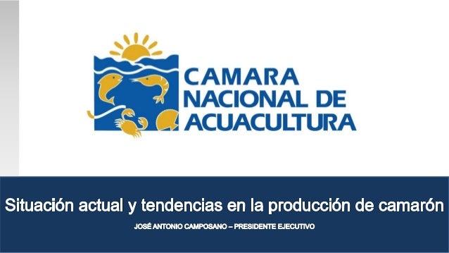 Ampliaciónacuerdo comercialconMéxico AGENDA Situación actual y tendencias en la producción de camarón