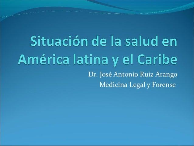 Situación de la salud en américa latina y Panamá