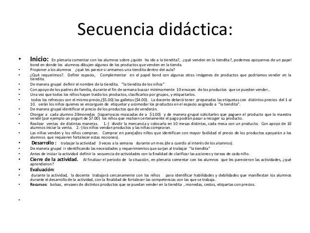 Secuencia didáctica:•   Inicio:      En plenaria comentar con los alumnos sobre ¿quién ha ido a la tiendita?, ¿qué venden ...