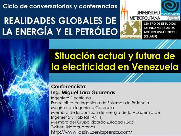 Ciclo de conversatorios y conferencias REALIDADES GLOBALES DE LA ENERGÍA Y EL PETRÓLEO CENTRO DE ESTUDIOS LATINOAMERICANOS...
