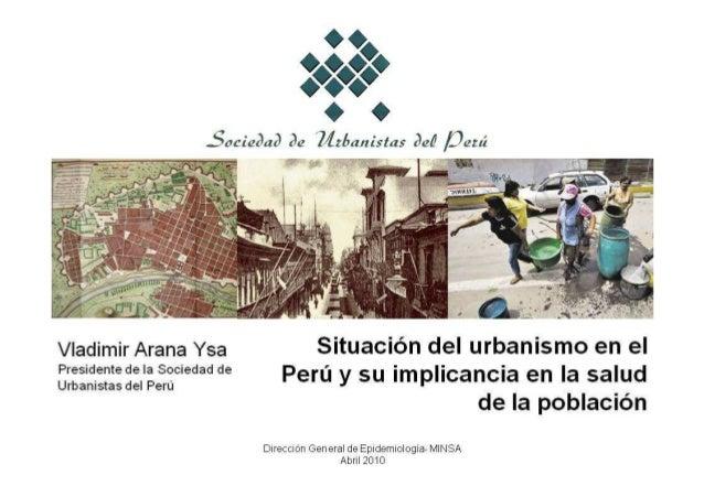 """Sociedad rie Zïzímnistas (id /3ezú  u"""" línia-l,         Vladimir Arana vea Situación del urbanismo en el P'°S""""i°""""'°""""e'aS°°..."""