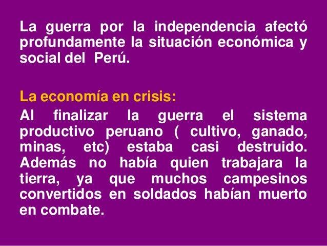 Situacion economica a inicios de la república Slide 2