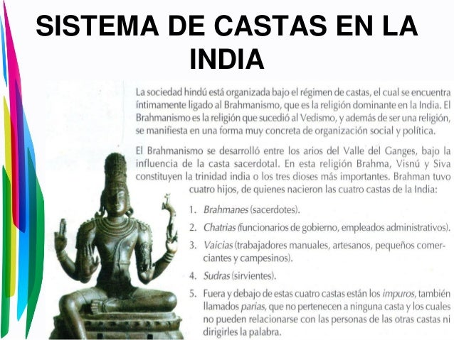 SISTEMA DE CASTAS EN LAINDIA