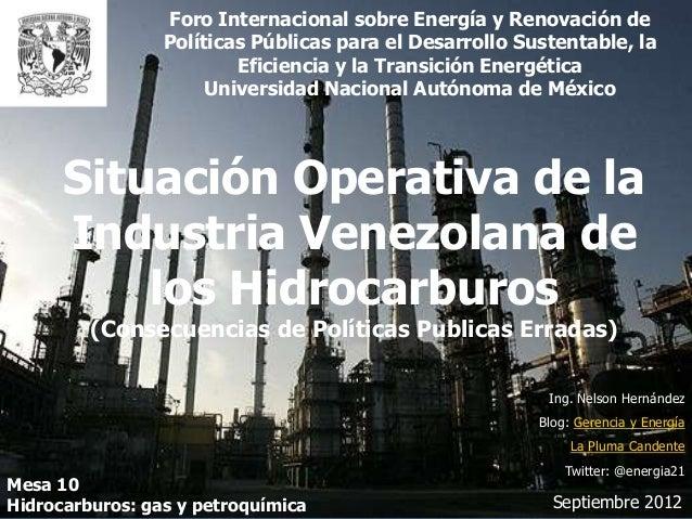 Foro Internacional sobre Energía y Renovación de                 Políticas Públicas para el Desarrollo Sustentable, la    ...