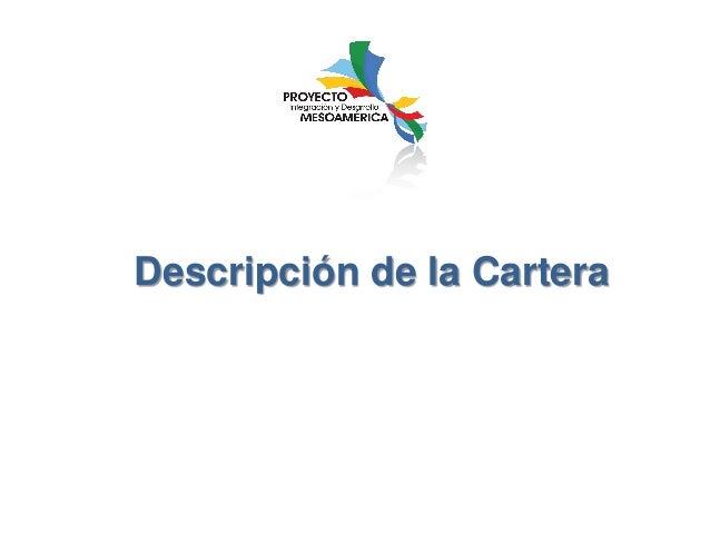 Descripción de la Cartera