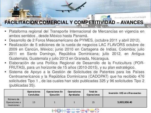 FACILITACION COMERCIAL Y COMPETITIVIDAD – AVANCES  Plataforma regional del Transporte Internacional de Mercancías en vige...