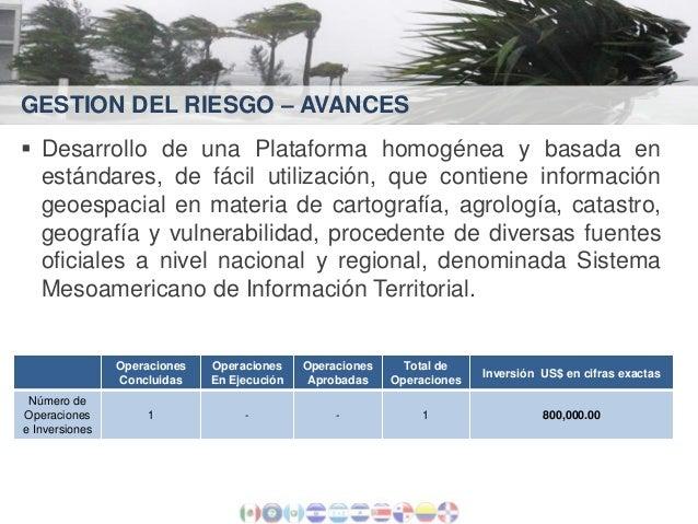GESTION DEL RIESGO – AVANCES  Desarrollo de una Plataforma homogénea y basada en estándares, de fácil utilización, que co...