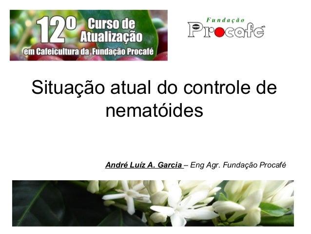 Situação atual do controle de nematóides André Luíz A. Garcia – Eng Agr. Fundação Procafé