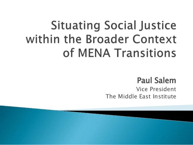 Paul Salem Vice President The Middle East Institute