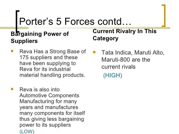 Porter s 5 forces analysis of tata motors