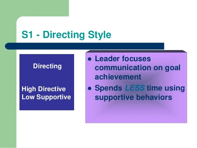 directive leadership style definition Ask participants to compare and finalize their own definition of leadership style based  autocratic or directive style of problem solving the leader defines.