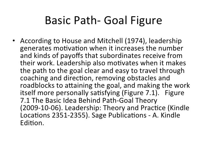 situational leadership contigency theory path and goal theory 17