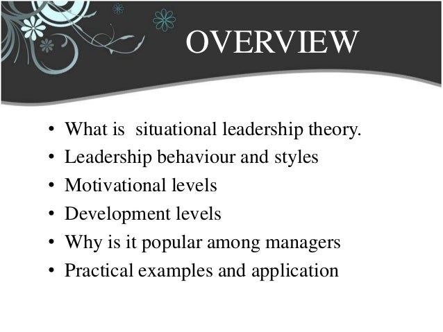 what are weaknesses of situational leadership theory Situational leadership theory, or the situational leadership model, is a model by paul hersey and ken blanchard, developed while working on management of organizational behavior the theory was first introduced as life cycle theory of leadership.