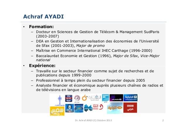 Situation conomique de la tunisie a ayadi octobre 2013 - Grille de salaire secteur bancaire tunisie ...