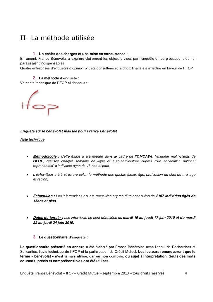 II- La méthode utilisée        1. Un cahier des charges et une mise en concurrence :En amont, France Bénévolat a e pi c i ...