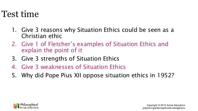 What is situational ethics? What does situational ethics mean.