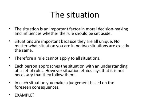 """situation ethics a level essay Overview situation ethics 1 by the end of today""""s lesson you will have: recapped/ revised the key elements of situation ethics  14 ao1 essay planning aquinas ."""