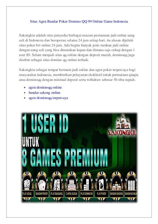 Situs Agen Bandar Poker Domino Qq 99 Online Game Indonesia