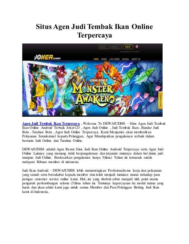 Situs Agen Judi Tembak Ikan Online Joker123 Terpercaya