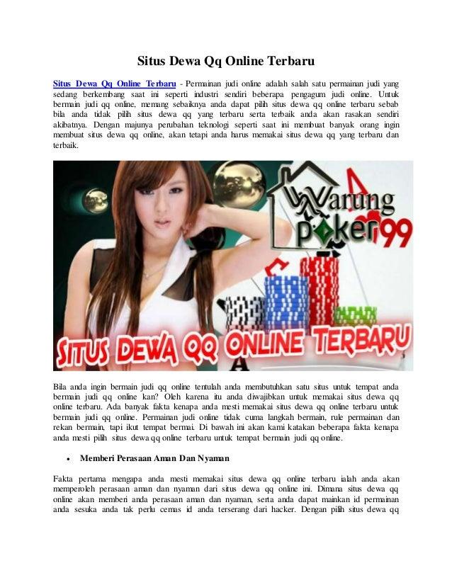Situs Dewa Qq Online Terbaru Warungpoker99