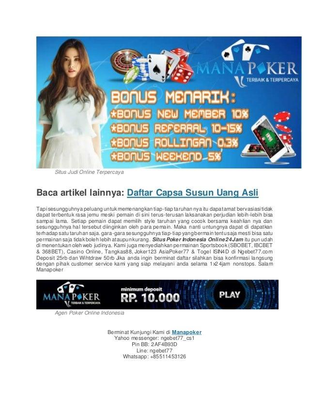 game poker uang asli tanpa modal